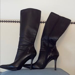 Leather knee high boots - Sz 37